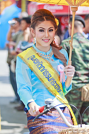 30th anniversary Bosang umbrella festival in Chiangmai province of Thailand Editorial Image
