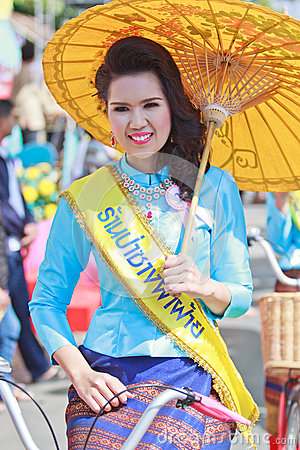 30th anniversary Bosang umbrella festival in Chiangmai province of Thailand Editorial Stock Photo