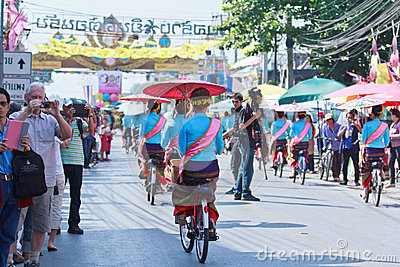 30th anniversary Bosang umbrella festival in Chiangmai province of Thailand Editorial Stock Image