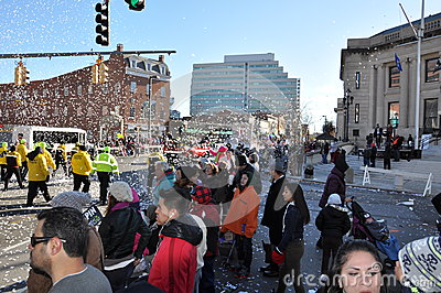 20th annual UBS Thanksgiving Parade Spectacular, in Stamford, Connecticut Editorial Photo