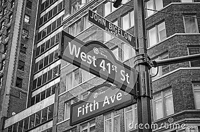 5th Avenue Sign, New York