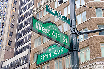 5th Avenue Sign, New York