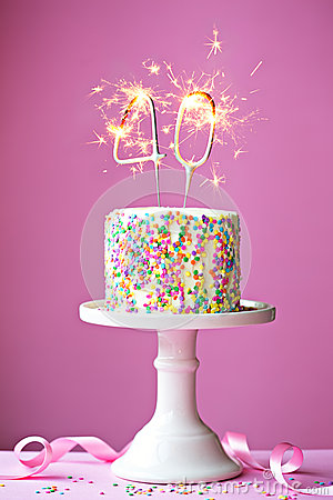 40th Birthday Cake Stock Photo Image 50126934