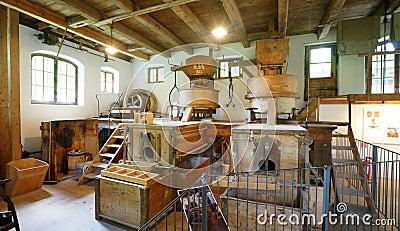 19th Century Bavarian Grain Mill Editorial Stock Image