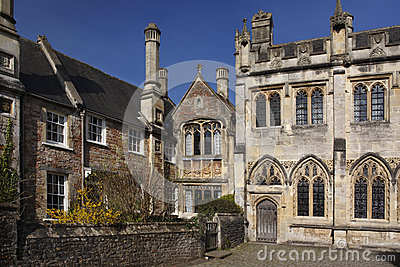 City of Wells - Vicars Walk - England Editorial Photo