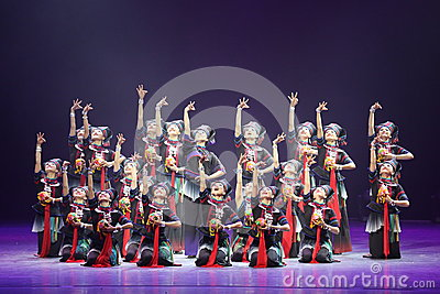 The 10th China art festival dance competition - the girls dance competition, Korean Editorial Stock Photo