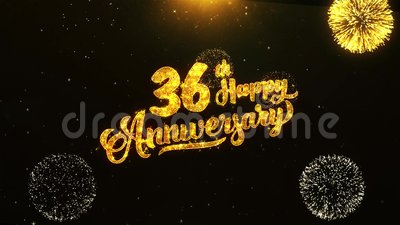 36th Happy Anniversary Text Greeting Wishes Celebration