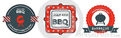 4th of July BBQ badges