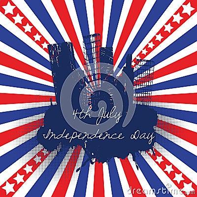 4th of July celebration background
