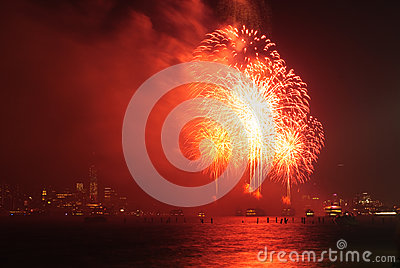 4th of July Fireworks in New York Editorial Photo