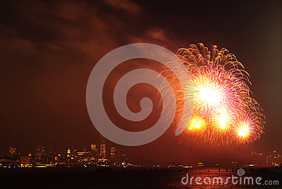 4th of July Fireworks in New York Editorial Image