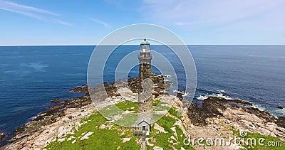 Thacher Island Lighthouses, Rockport, MA, USA stock video