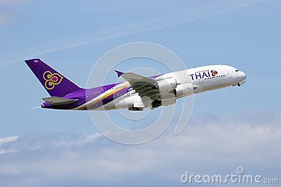 Thai Airways Airbus 380 Editorial Image