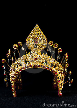 thai ancient crown stock photos image 15536503
