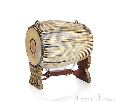 Thai ancient drum the Thai music instrument