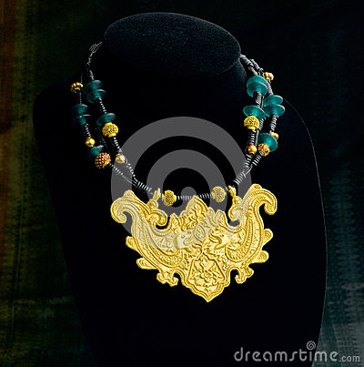 Thai ancient style necklace