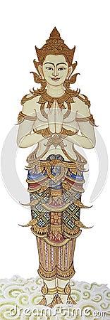 Thai angel art paint