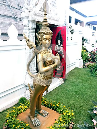 Thai angel sculpture