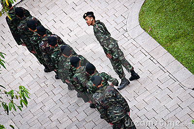 Thai army guards Editorial Image