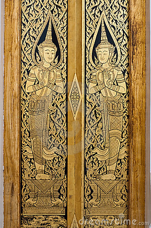 Thai Art on Door