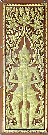 Thai art with door