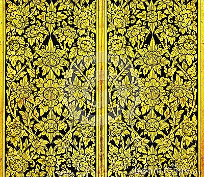 Thai art gold pattern very old