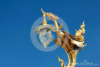 Thai art golden hansa