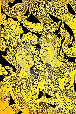Thai art mural