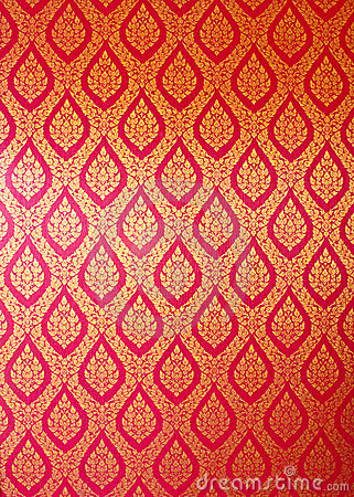 Free Thai Art Wall Pattern Royalty Free Stock Images - 20775679