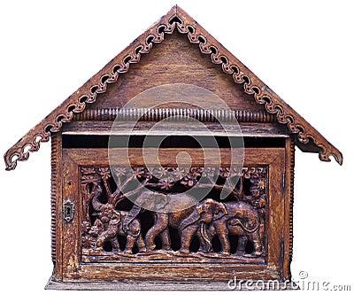 Thai art on wood