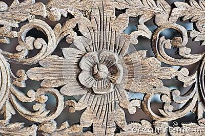 Thai art woodcraft.