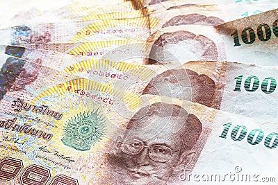 Thai baht money.