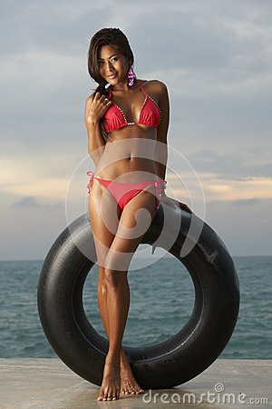 Thai Bikini Model With Tube