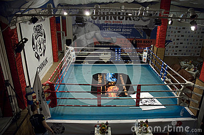 Thai boxing fight club Osminog Editorial Photo