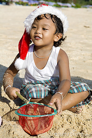Thai boy on the beach