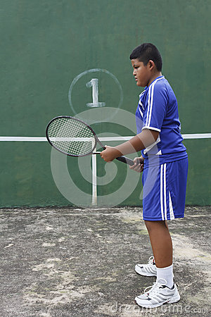 Thai boy tennis player
