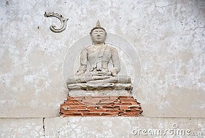 Thai buddha statue in the church