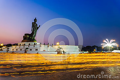 Thai Buddhism hold the fired candle Editorial Photography