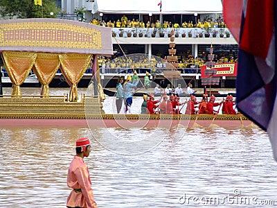 Thai Buddhist boats, Bangkok, Thailand. Editorial Photo