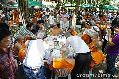 Thai Buddhist ordination ceremony Editorial Stock Photo
