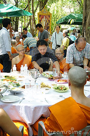 Thai Buddhist ordination ceremony Editorial Stock Photo