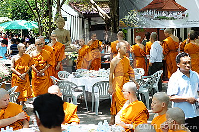 Thai Buddhist ordination ceremony Editorial Photography