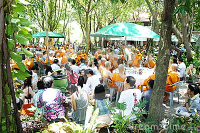 Thai Buddhist ordination ceremony Editorial Image