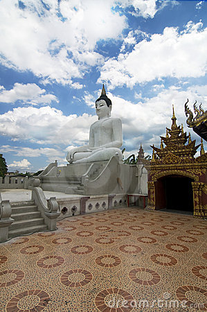 Thai Buddhist temple with Buddha statue