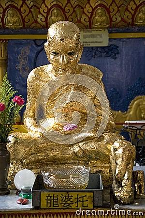 Thai Buddhist Temple Golden Statue