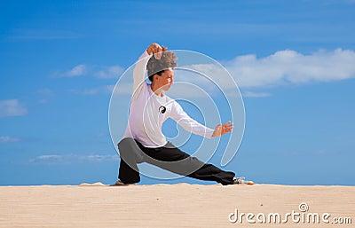 Thai-chi in the dunes
