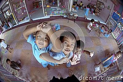 Thai children in the kindergarten Editorial Stock Image