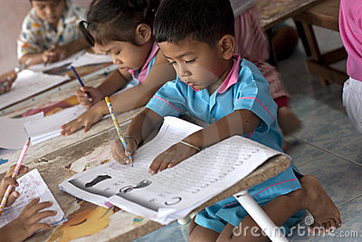 Thai children in kindergarten Editorial Photography
