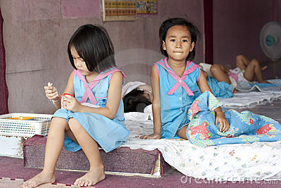 Thai children in the kindergarten Editorial Photo