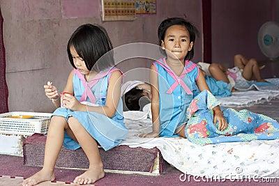 Thai children in the kindergarten Editorial Photo